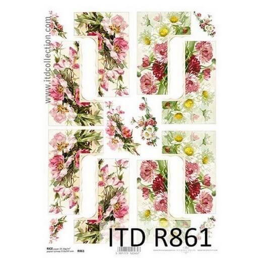 Ριζόχαρτο ITD, 21x29cm, Τριαντάφυλλα, R861
