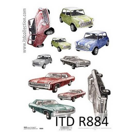 Ριζόχαρτο ITD, 21x29cm, Αυτοκίνητα R884