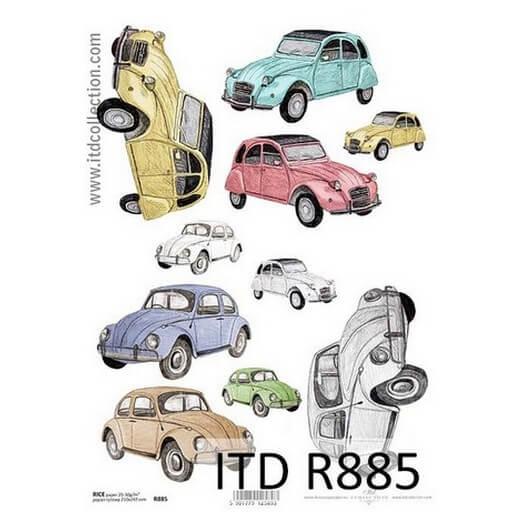 Ριζόχαρτο ITD, 21x29cm, Αυτοκίνητα σκαραβαίοι R885