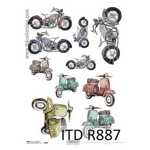 Ριζόχαρτο ITD, 21x29cm, Μηχανές και βέσπες R887