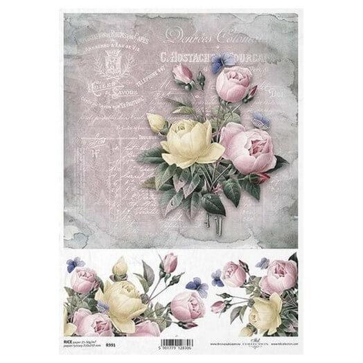Ριζόχαρτο ITD, 21x29cm, Μπουκέτο τριαντάφυλλα, R991
