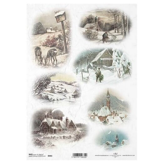 Ριζόχαρτο ITD, 21x29cm, Χιονισμένα τοπία, R993