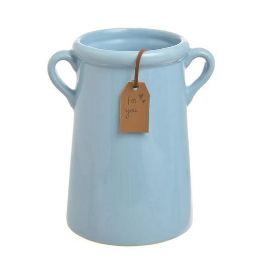 Κανάτα δοχείο κεραμική, 12x14cm, blue