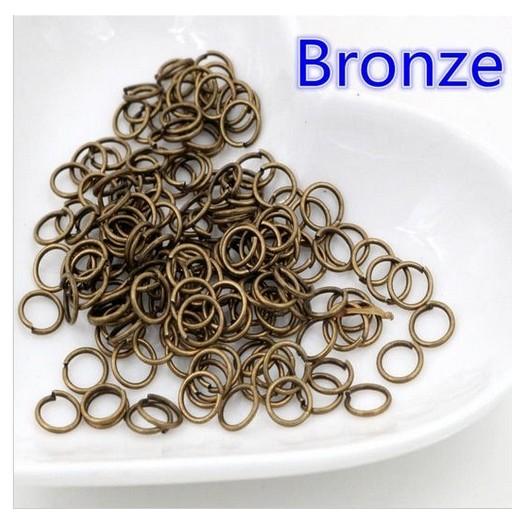 Κρίκοι μεταλλικοί bronze 0,6cm +/-100τεμ