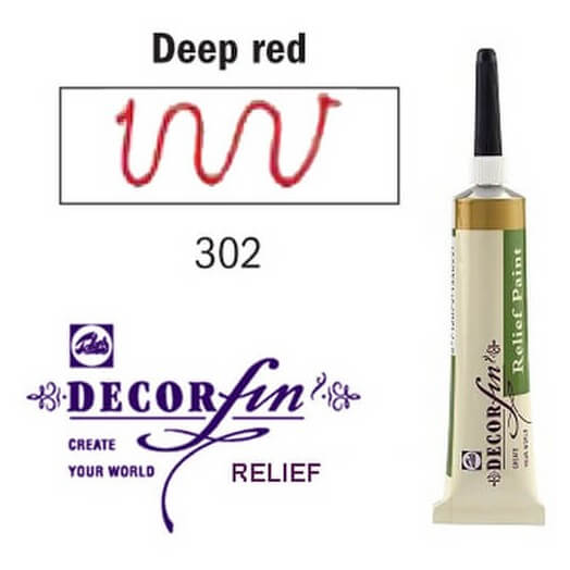 Relief 20ml Decorfin 302 Deep red