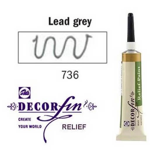 Relief 20ml Decorfin 736 Lead grey