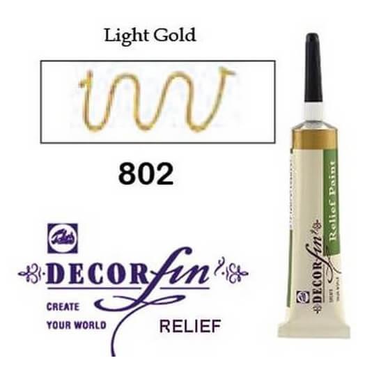 Relief 20ml Decorfin 802 Light gold