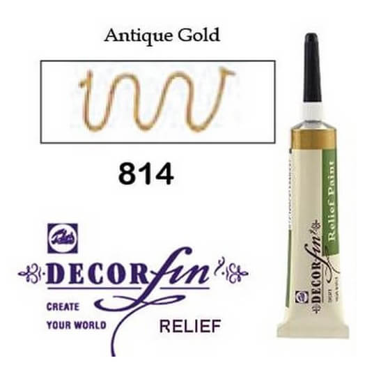 Relief 20ml Decorfin 814 Antique Gold