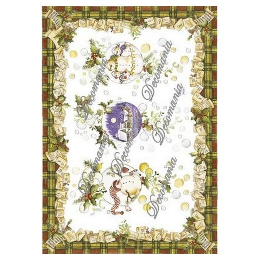 Χαρτί Decomania 35x50cm  ,Χριστουγεννιάτικο