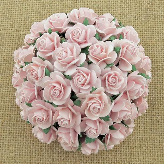 Λουλούδια PINK OPEN ROSES, 20mm