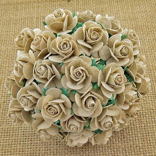 Λουλούδια DOVE GREY OPEN ROSES, 20mm