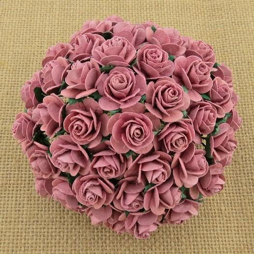 Λουλούδια DUSKY PINK OPEN ROSES, 20mm
