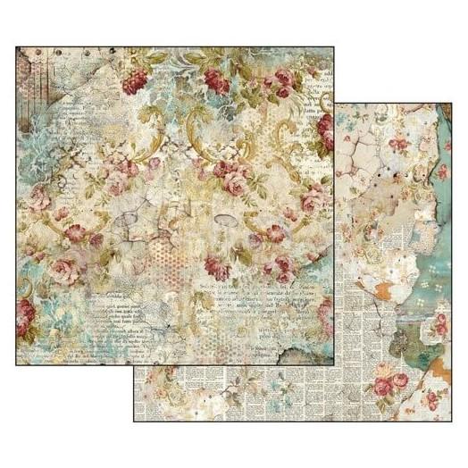 Χαρτί scrapbooking διπλής όψης Time is an Illusion Floral Texture 31,2x30,3cm, Stamperia