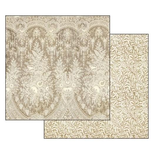 Χαρτί scrapbooking διπλής όψης Old Lace texture beige background 31,2x30,3cm, Stamperia