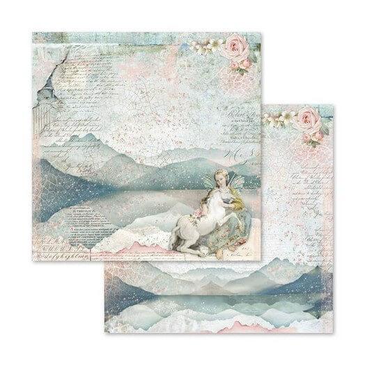 Χαρτί scrapbooking διπλής όψης 30x30cm Stamperia,  Fairy Unicorn