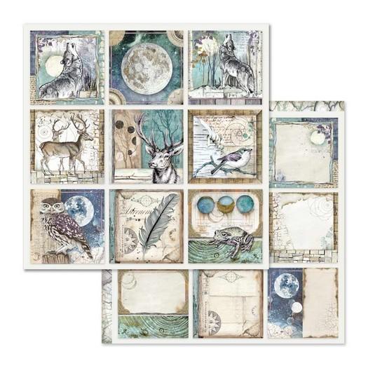 Χαρτί scrapbooking διπλής όψης 30x30cm Stamperia, Cosmos Cards