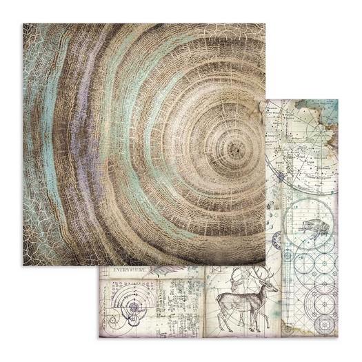 Χαρτί scrapbooking διπλής όψης 30x30cm Stamperia, Cosmos knots