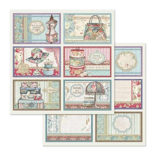 Χαρτί scrapbooking διπλής όψης 30x30cm Stamperia, 6 Frame decorations