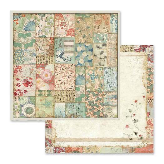 Χαρτί scrapbooking διπλής όψης 30x30cm Stamperia, Kimono