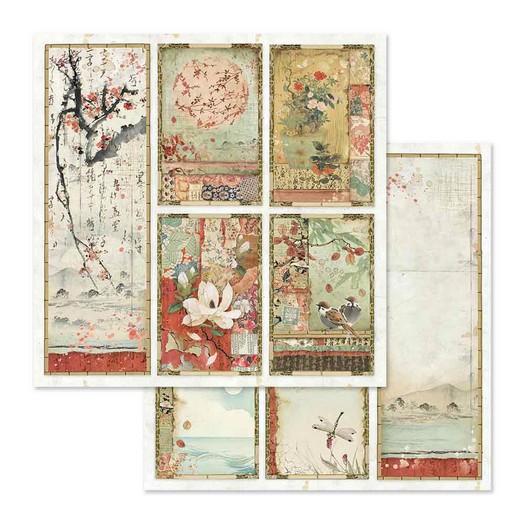Χαρτί scrapbooking διπλής όψης 30x30cm Stamperia, Oriental Paintings