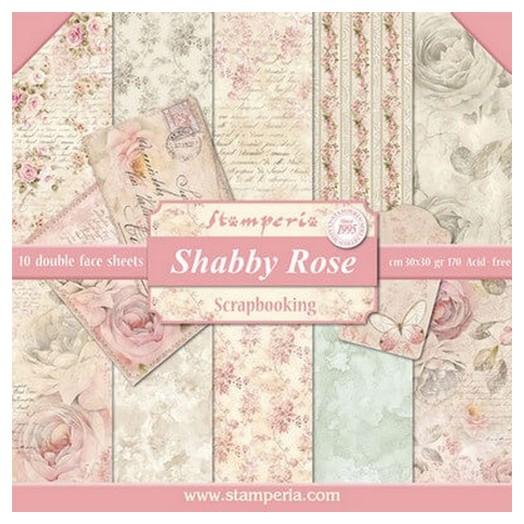 Χαρτιά scrapbooking 10τεμ Shabby Rose, Stamperia