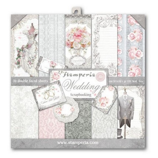 Χαρτιά scrapbooking 10τεμ Wedding, Stamperia