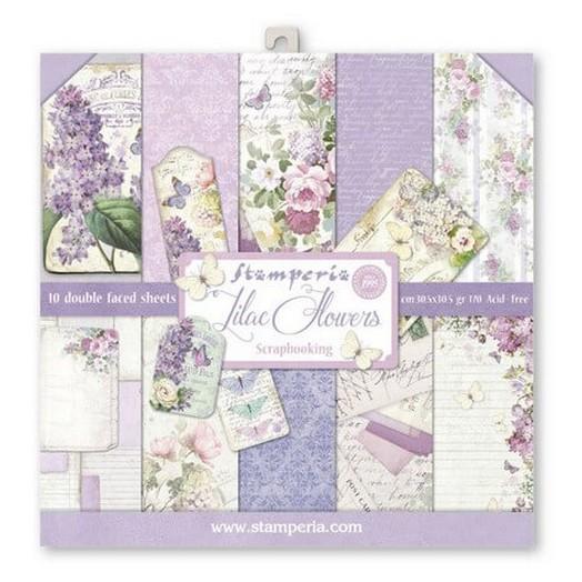 Χαρτιά scrapbooking 10τεμ Lilac, Stamperia