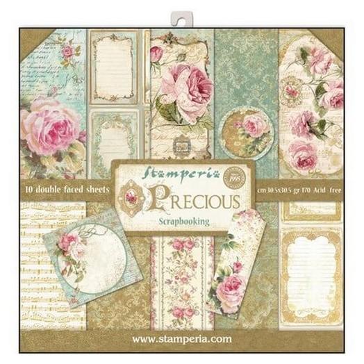Χαρτιά scrapbooking 10τεμ - Precious Gift - Stamperia