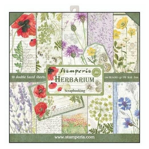 Χαρτιά scrapbooking 10τεμ Herbarium, Stamperia