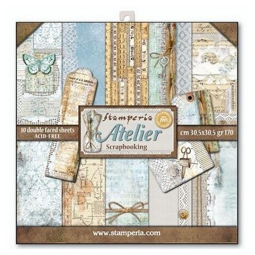 Χαρτιά scrapbooking 10τεμ Atelier, Stamperia