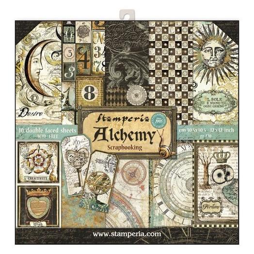 Χαρτιά scrapbooking 10τεμ Alchemy, Stamperia