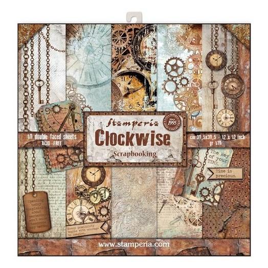 Χαρτιά scrapbooking 10τεμ Clockwise, Stamperia