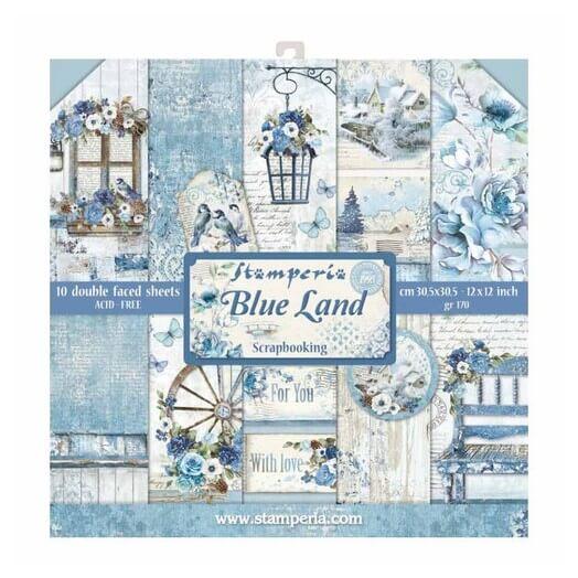 Χαρτιά scrapbooking 10τεμ, Blue Land, Stamperia