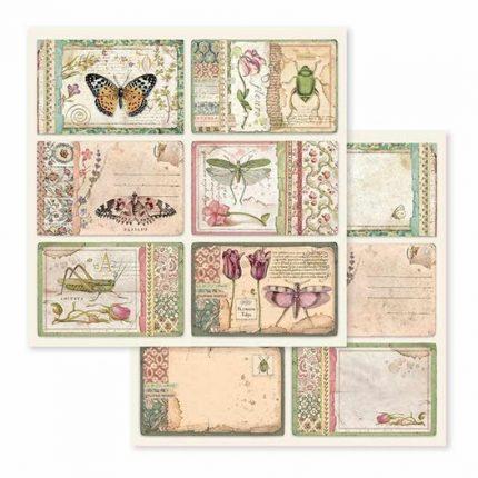 Χαρτιά scrapbooking 10τεμ Stamperia,  Spring Botanic