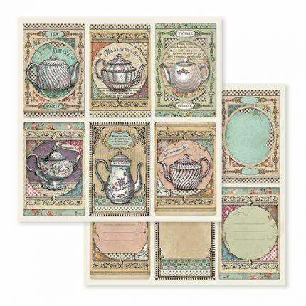 Χαρτιά scrapbooking 10τεμ Stamperia,  Alice