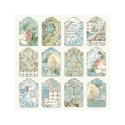 Χαρτιά scrapbooking 10τεμ Stamperia 20,3x20,3cm, Azulejos