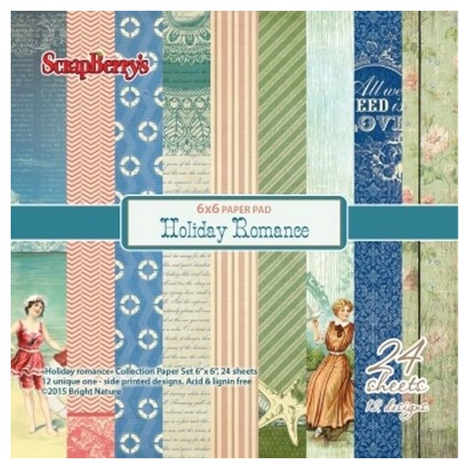 Paper Collection Set Holiday Romance 15x15cm, 24 τεμ