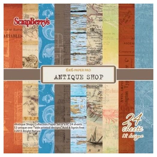Paper Collection Set Antique Shop 15x15cm, 24 τεμ