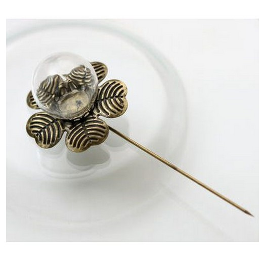 Hairpinflower with glass decoration 20mm