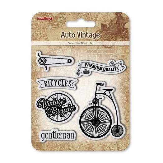 Σφραγίδες σετ 10.5x10.5cm Auto Vintage - Bicycles