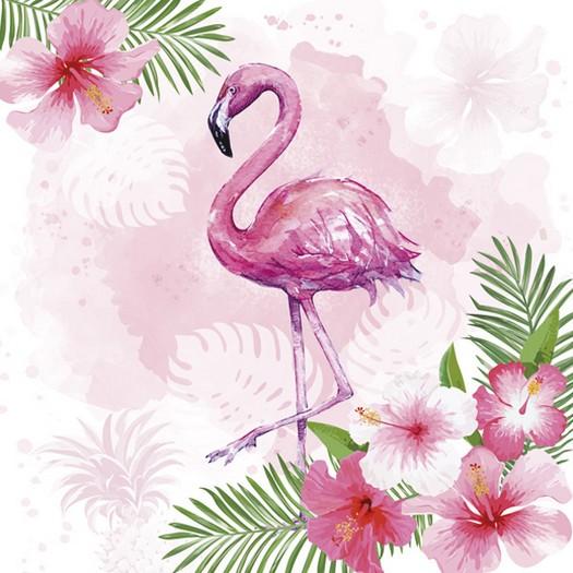 Χαρτοπετσέτα για Decoupage, Pink Flamingo, 1τεμ
