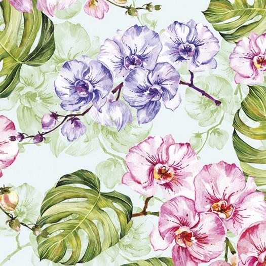 Χαρτοπετσέτα για Decoupage, Flowers and leaves, 1τεμ
