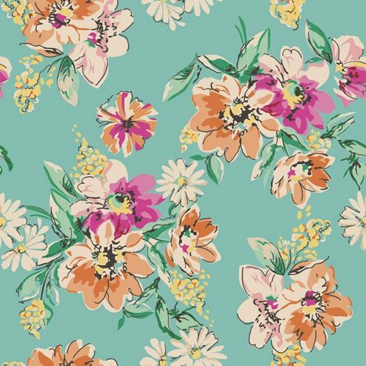 Χαρτοπετσέτα για Decoupage, Flowers with green background, 1τεμ