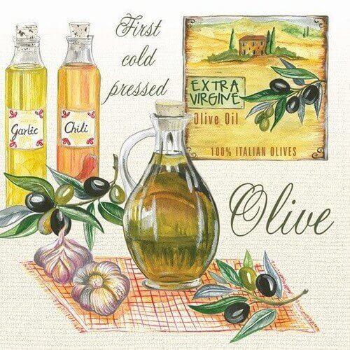 Χαρτοπετσέτα για decoupage, Aromatic Olive Oils