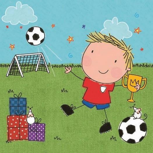 Χαρτοπετσέτα για Decoupage, Football boy, 1τεμ