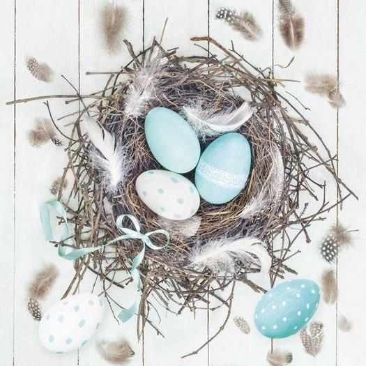 Χαρτοπετσέτα για Decoupage, Egg nest, 1τεμ