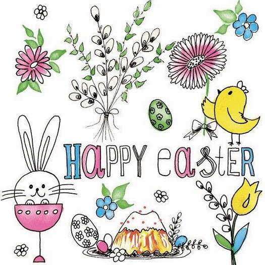 Χαρτοπετσέτα για Decoupage, Happy Easter Bunny, 1τεμ