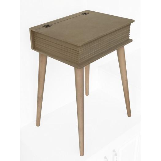 Τραπεζάκι - κουτί με ψηλά ποδαράκια MDF, 43x33,2xY60cm