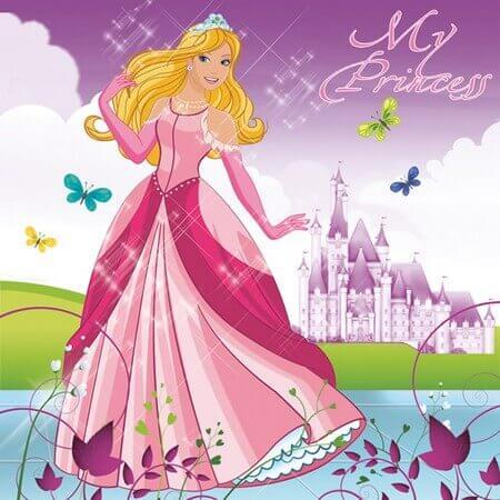 Χαρτοπετσέτα για Decoupage Beautiful Princess, 1τεμ.