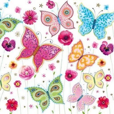 Χαρτοπετσέτα για Decoupage Butterflies, 1τεμ.
